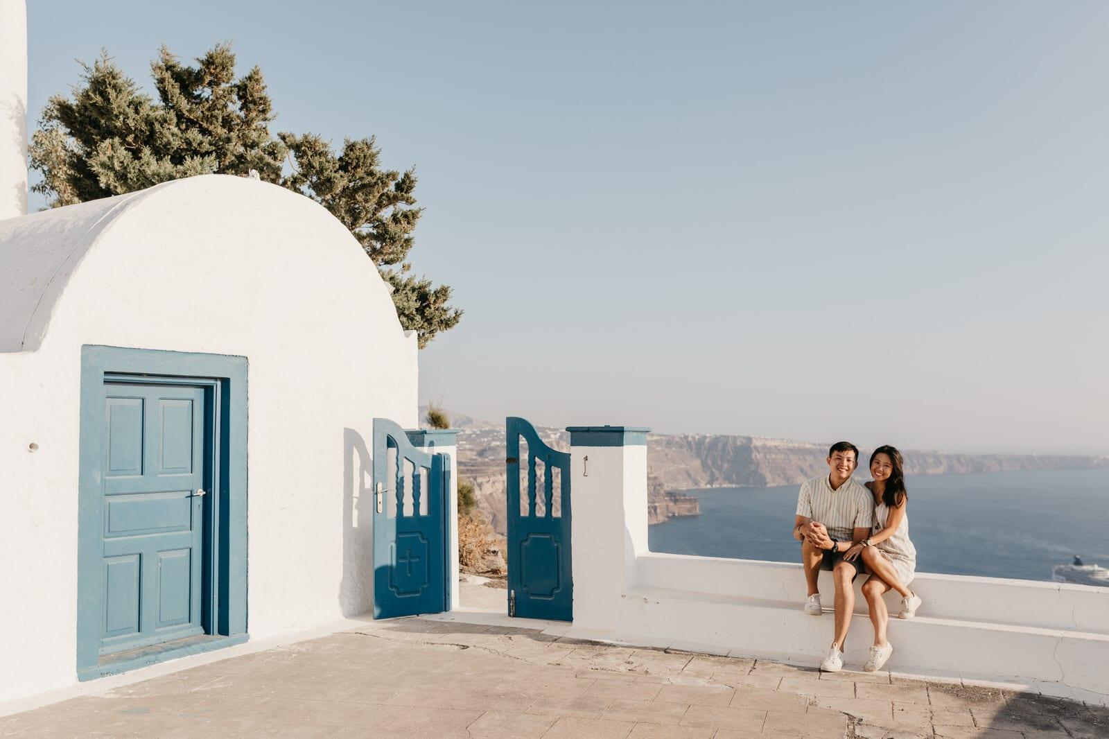 santorini wedding proposal