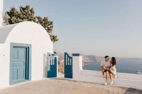 Santorini Wedding Proposal Photographer